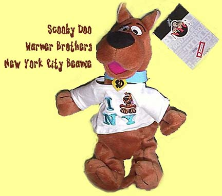 "Warner Brothers Studio Scooby-Doo Roman Bean Bag Plush 9/"" 1998"